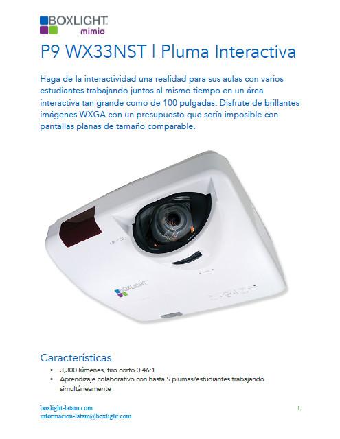 Catalogo Boxlight P9WX33NST