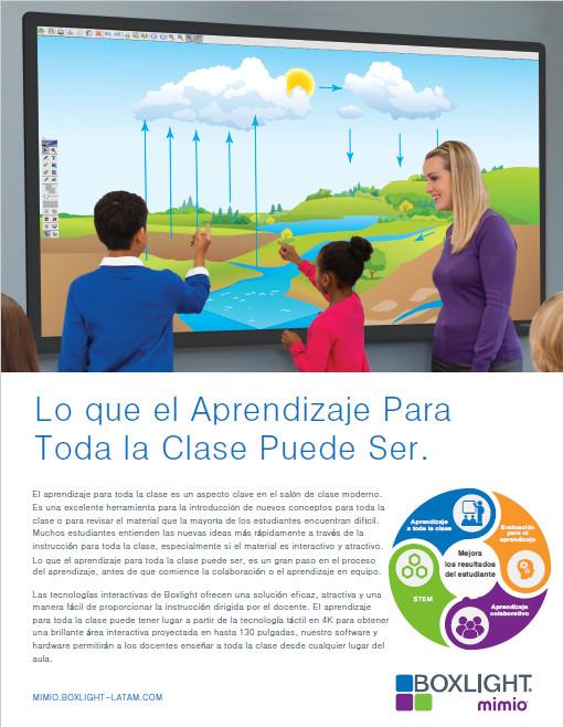 Brochure Aprendizaje Para toda la Clase