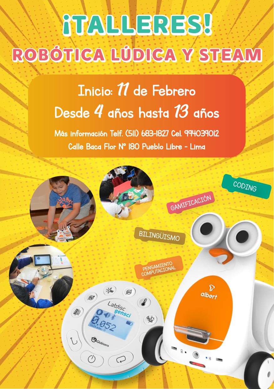 Taller de Robótica para niños de 4 a 13 años, Sede en Lima - Perú