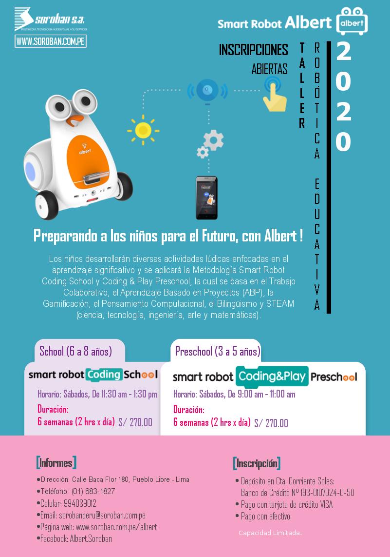Taller de Robótica para niños 2018, en Lima-Perú