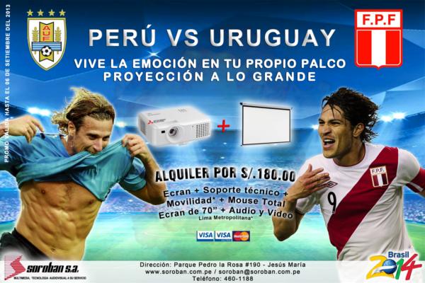 Vive el Perú vs Uruguay en Pantalla Gigante