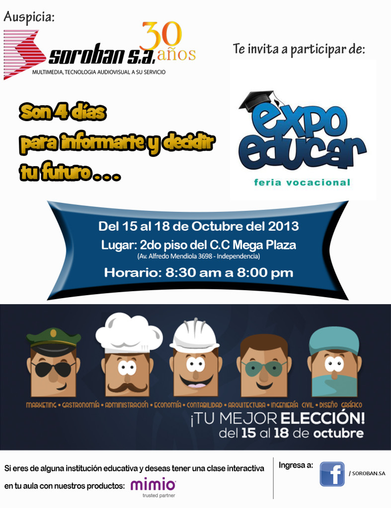Feria Vocacional – EXPOEDUCAR 2013