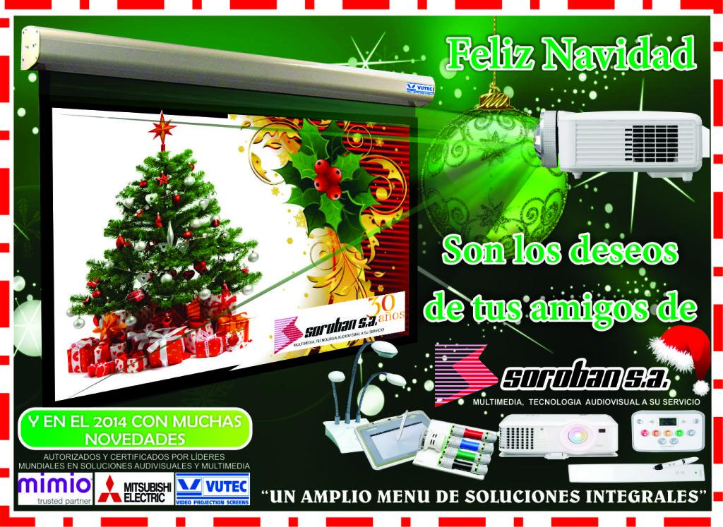 Les deseamos a todos nuestros amigos y clientes una Feliz Navidad