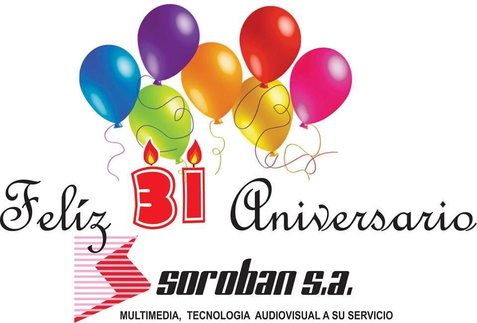 Feliz 31 Aniversario SOROBAN