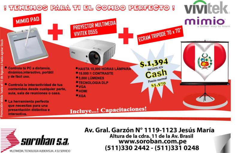Oferta Multimedia/Interactiva por Fiestas Patrias