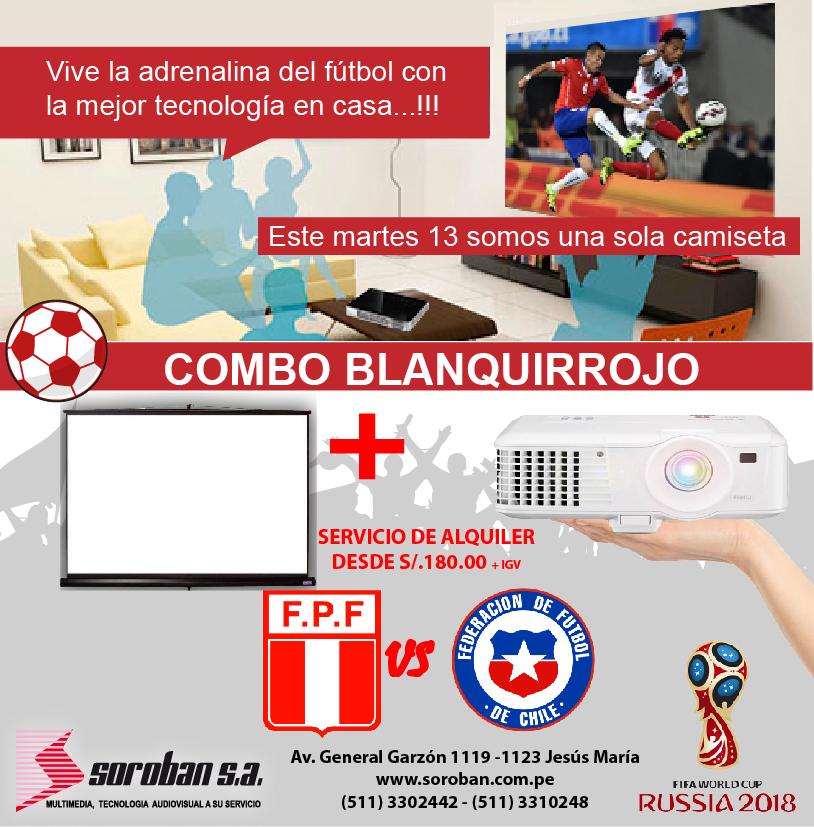 Vive el Perú V.S Chile en Pantalla Gigante – Eliminatorias Rusia 2018