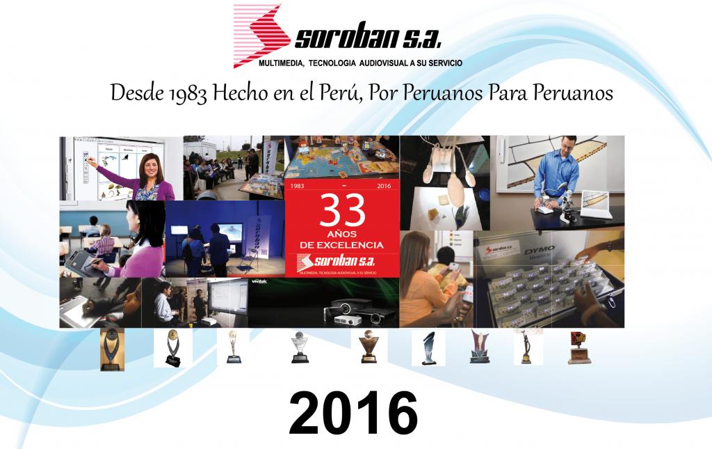 SOROBAN con 33 años de Profesionalismo y Servicio, Hecho en el Perú por Peruanos, para Peruanos