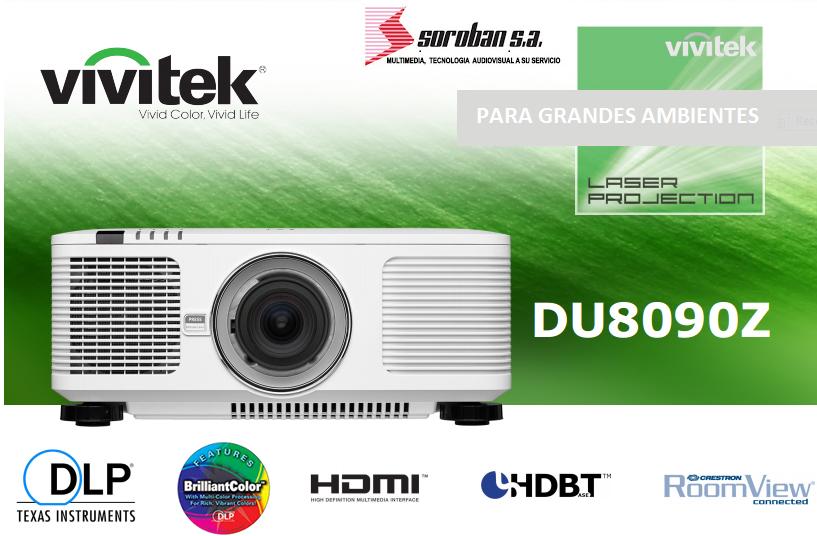Vivitek DU8090Z, Primer Proyector Láser de 8K Lúmenes (Lamp-Free & Eco-Friendly)