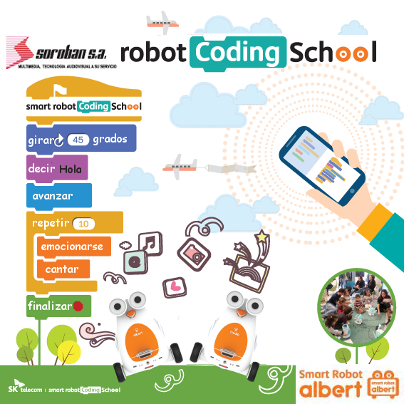 Albert y el Smart Robot Coding School en los Niños