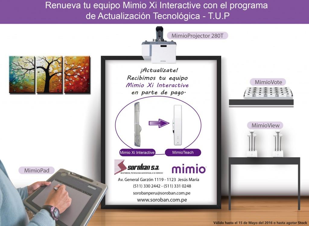 Renueva tu Mimio Xi Interactive por un MimioTeach