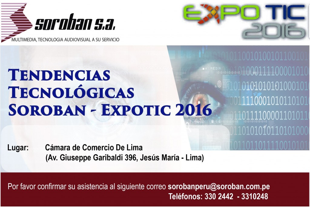 Tendencias Tecnológicas: Soroban – Expotic 2016