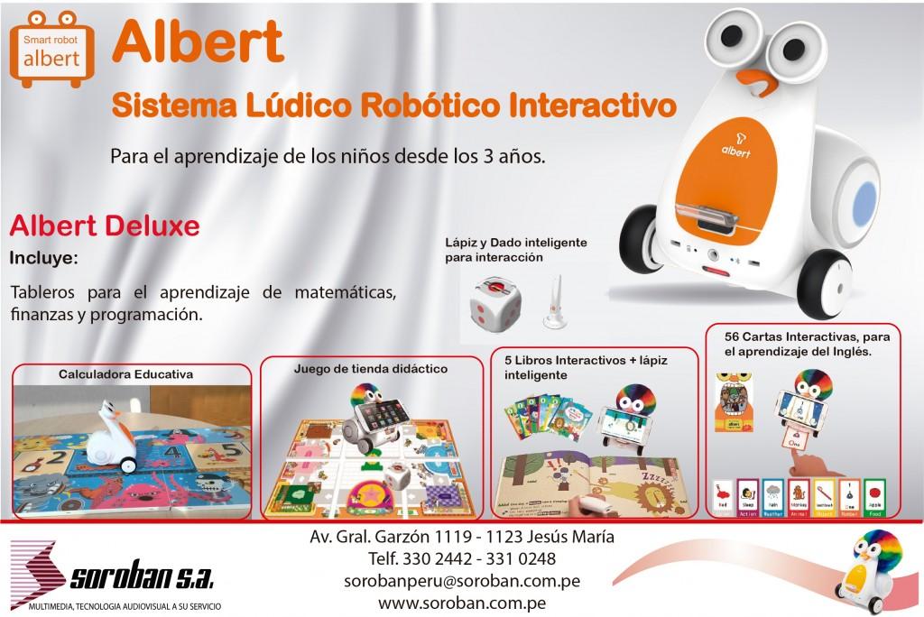 Albert Deluxe – Kit Completo de Robótica Lúdica Interactiva para las Escuelas y el Hogar