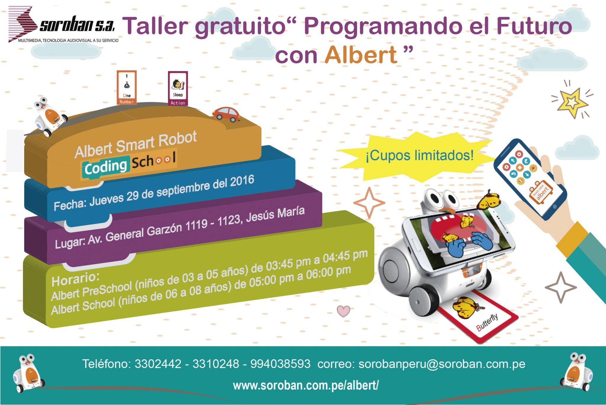 Taller de Robótica para Niños: Programando el Futuro con Albert