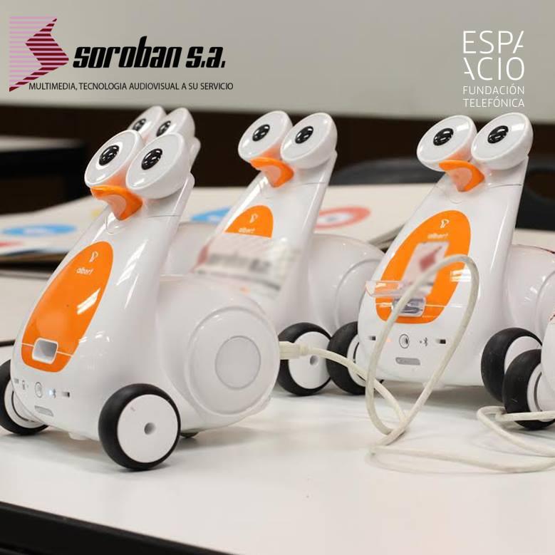 SOROBAN y Espacio Fundación Telefónica, en el Taller de Robótica Educativa para Niños: Programando el Futuro con Albert