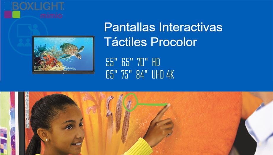 Boxlight Mimio: Pantallas Interactivas Táctiles Procolor