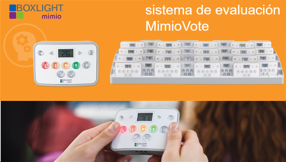 Boxlight Mimio: ¿Por qué el sistema de evaluación MimioVote™ es mejor?