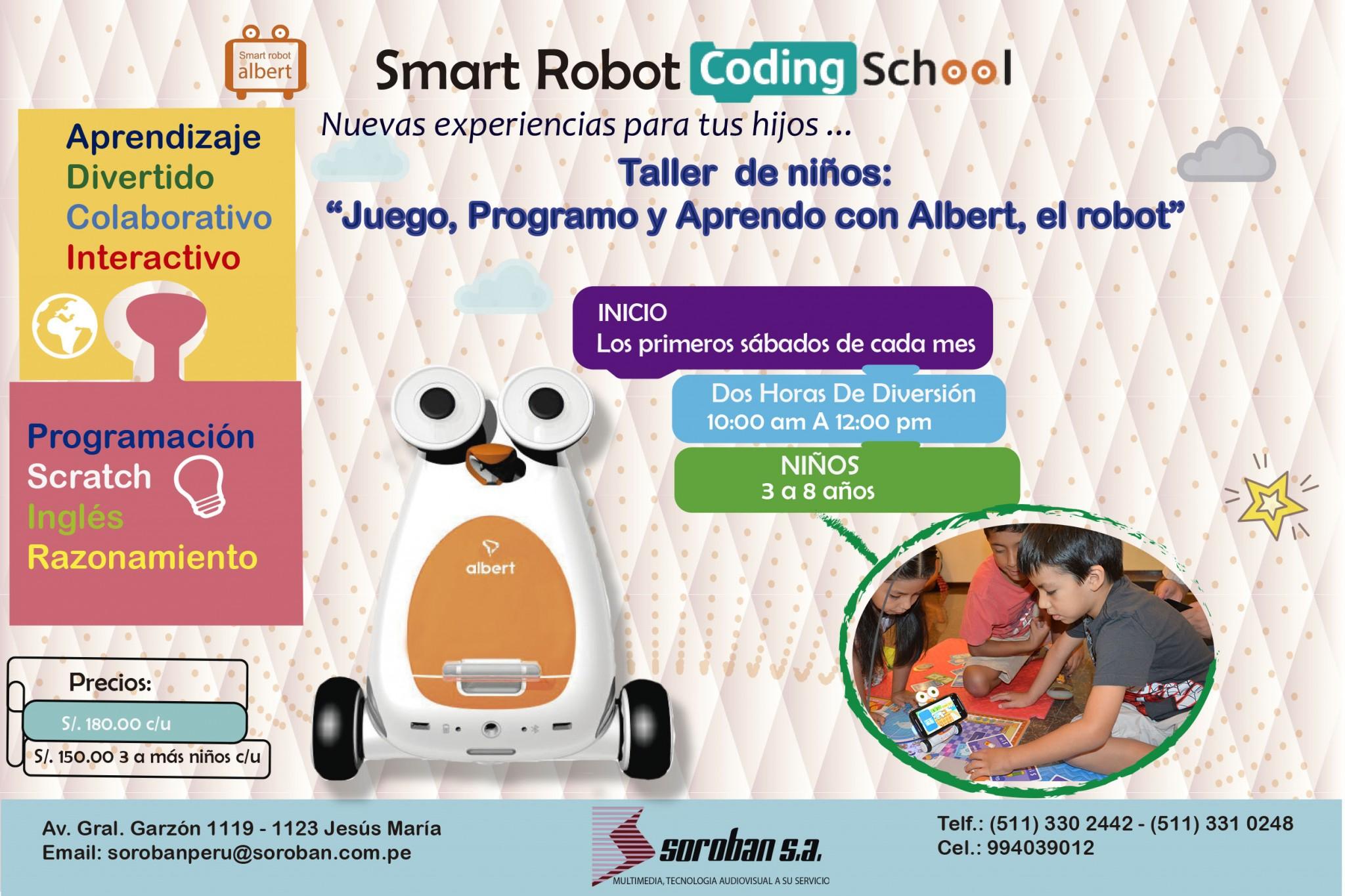 "Taller de Robótica para Niños ""Albert Smart Robot Coding School"""