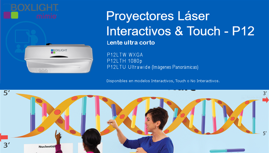 Boxlight Mimio: Una nueva Generación de Pizarras Interactivas con los Proyectores Láser Touch P12