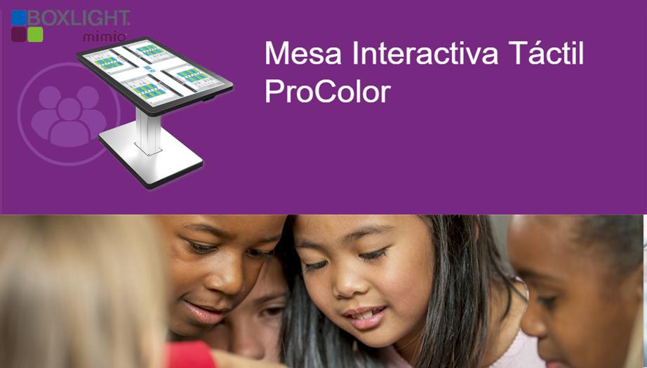 Boxlight Mimio: Desarrolle el Trabajo en Equipo con la Mesa Táctil Interactiva Procolor Touch Table