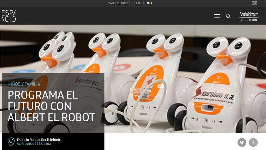 Programando el Futuro con Albert el Robot: SOROBAN & Fundación Telefónica, Enero 2017