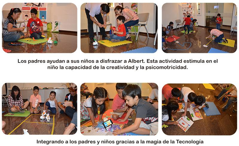 Albert: Aprendizaje divertido basado en el trabajo en equipo entre padres e hijos