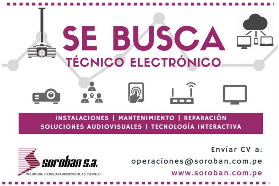 Oportunidad Laboral para Técnicos Electrónicos