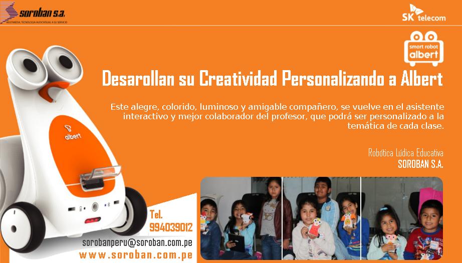 Robótica Lúdica Educativa: Desarrollan su Creatividad Personalizando a Albert
