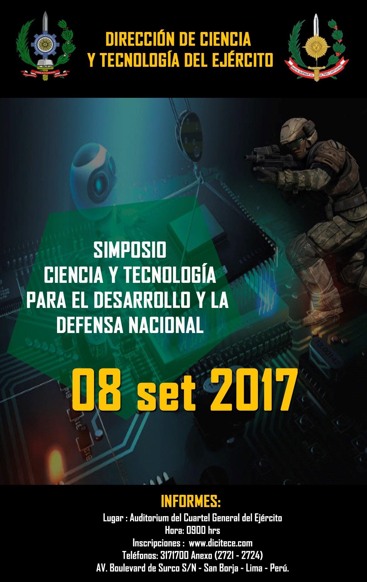 DICITECE 2017 – Feria de Ciencia y Tecnología del Ejército del Perú