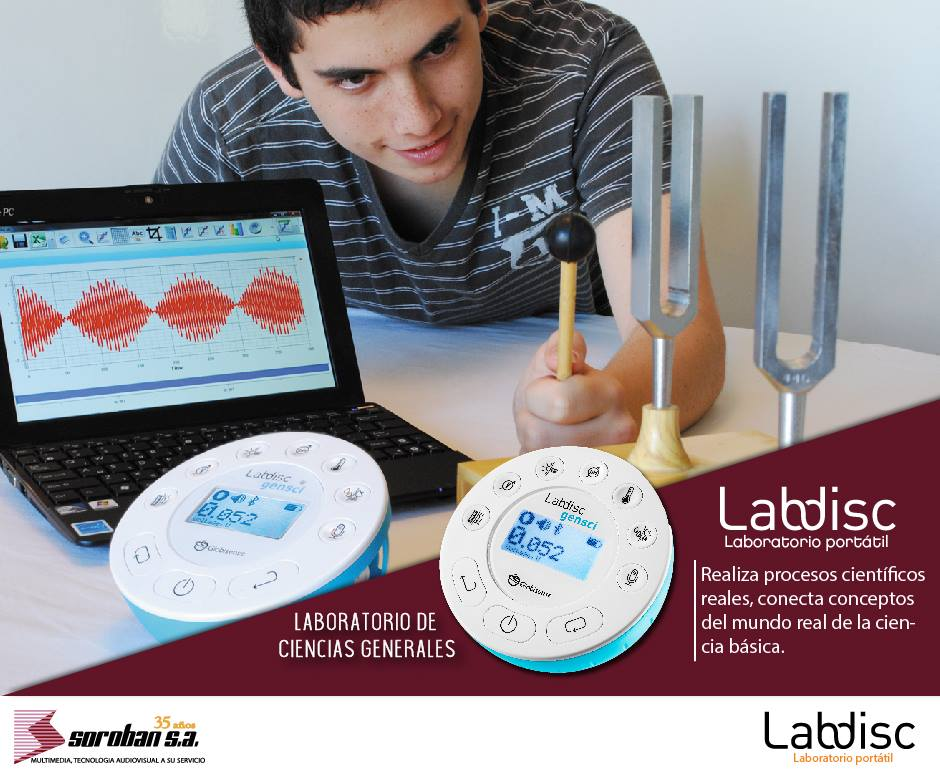 Labdisc es la Mejor Alternativa de Laboratorio Portátil Para el Aprendizaje de las Ciencias
