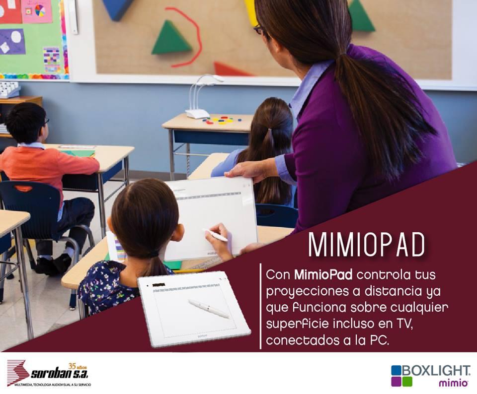 MimioPad: Controla tu Proyección a Distancia