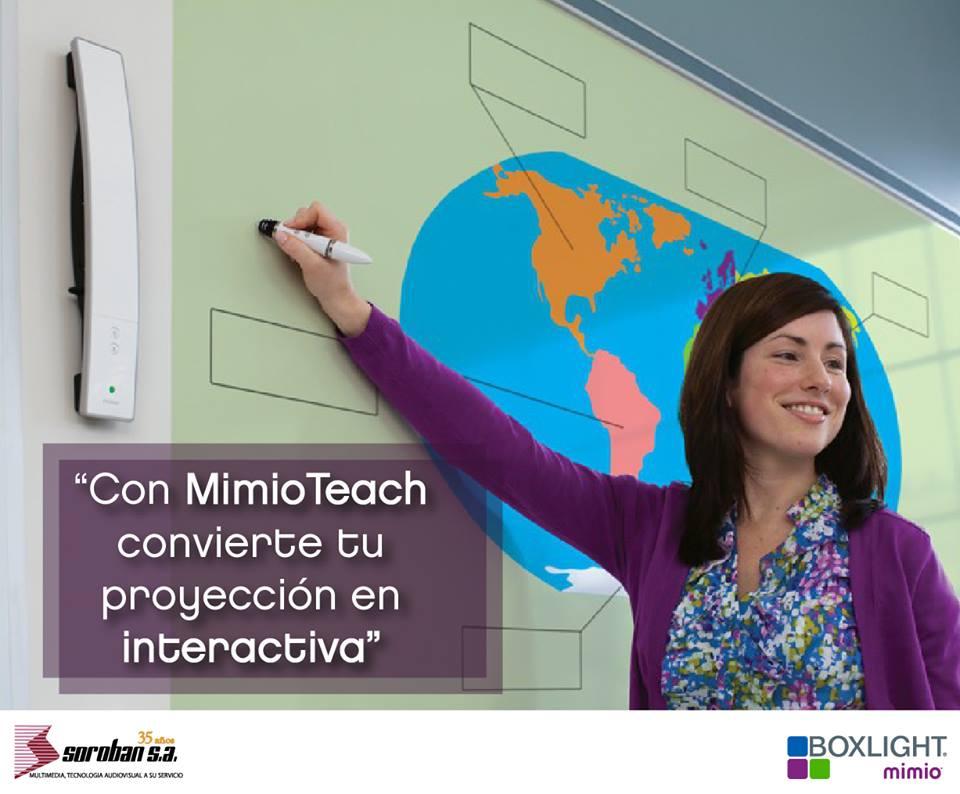 MimioTeach: ¡Ahora puedes convertir tu proyección convencional en interactivo!