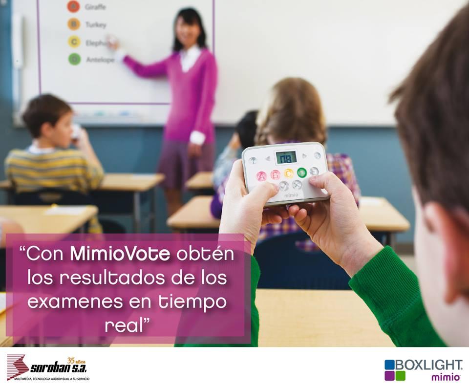 Con MimioVote, Obtén los Resultados de los Exámenes en Tiempo Real