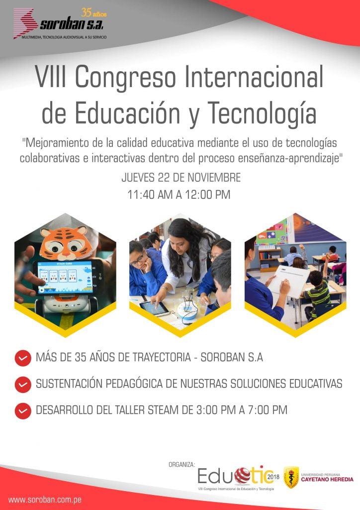 VIII Congreso Internacional de Educación y Tecnología (EDUTIC 2018)