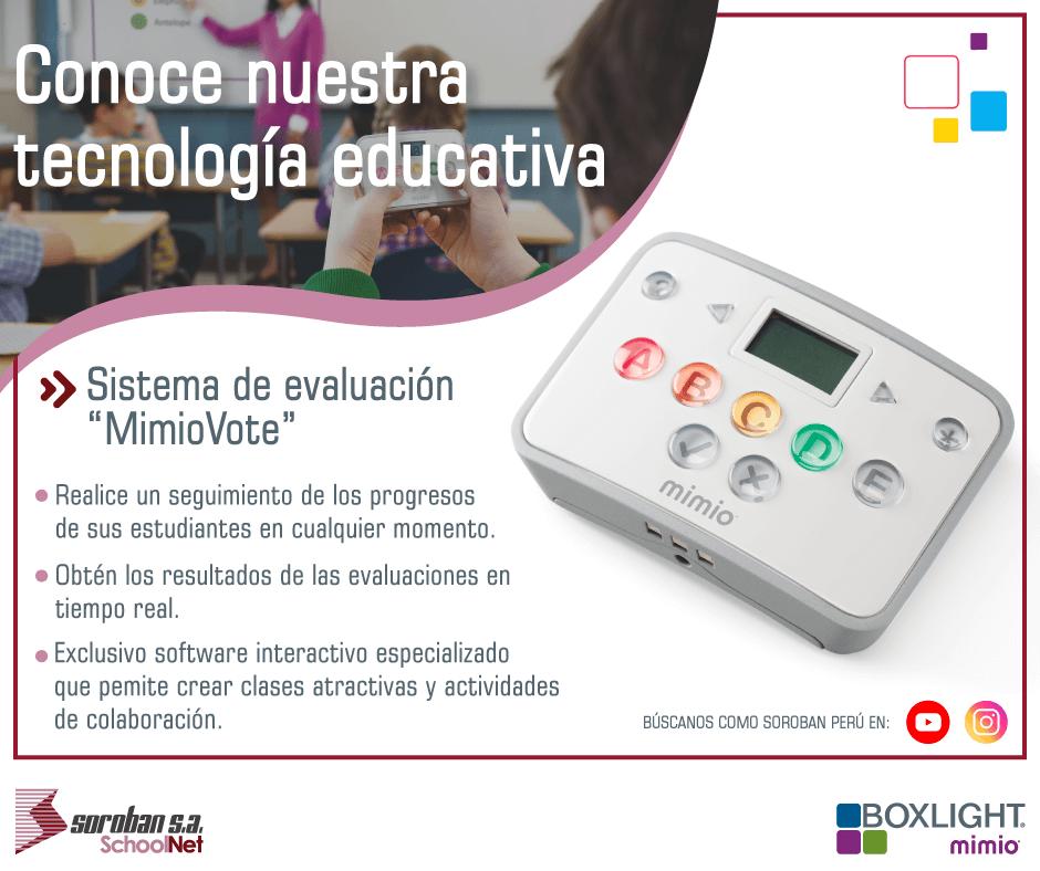 """Conoce nuestra tecnología educativa: """"MimioVote"""""""