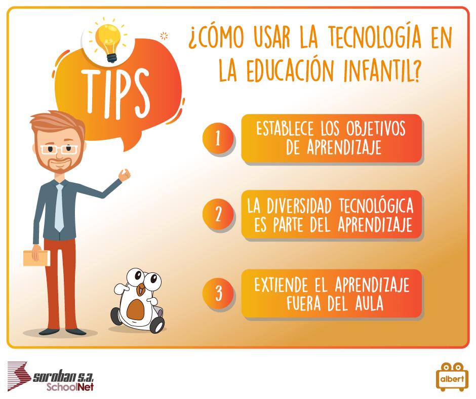 Albert Tips: ¿Cómo usar la tecnología en la educación infantil?