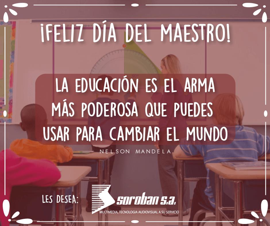 Soroban les desea ¡Feliz Día del Maestro 2019!
