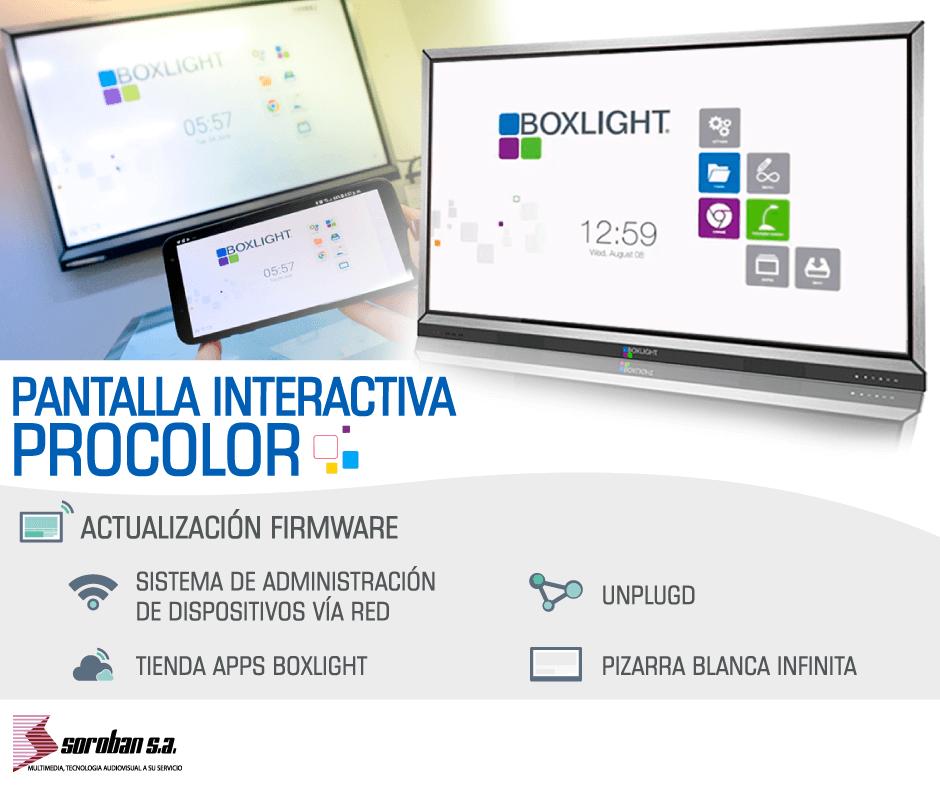 Actualización de Firmware Pantalla Interactiva Procolor