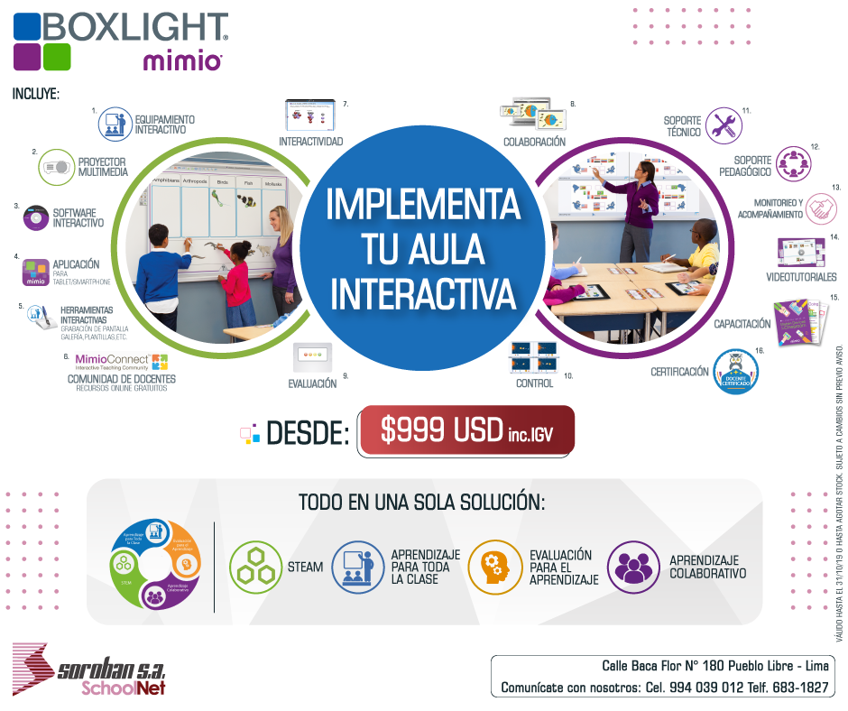 Implementa tu Aula Interactiva Boxlight Mimio