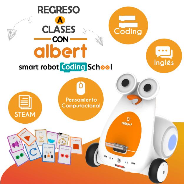 De regreso a clases con Albert Smart Robot Coding School