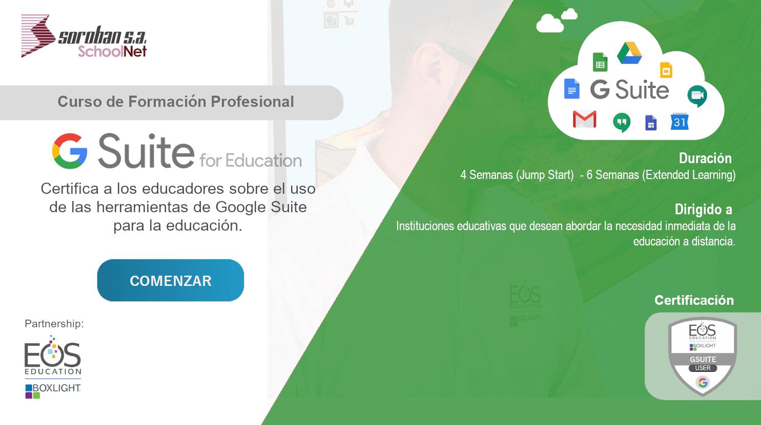 Google GSuite: Curso de Certificación y Formación Profesional