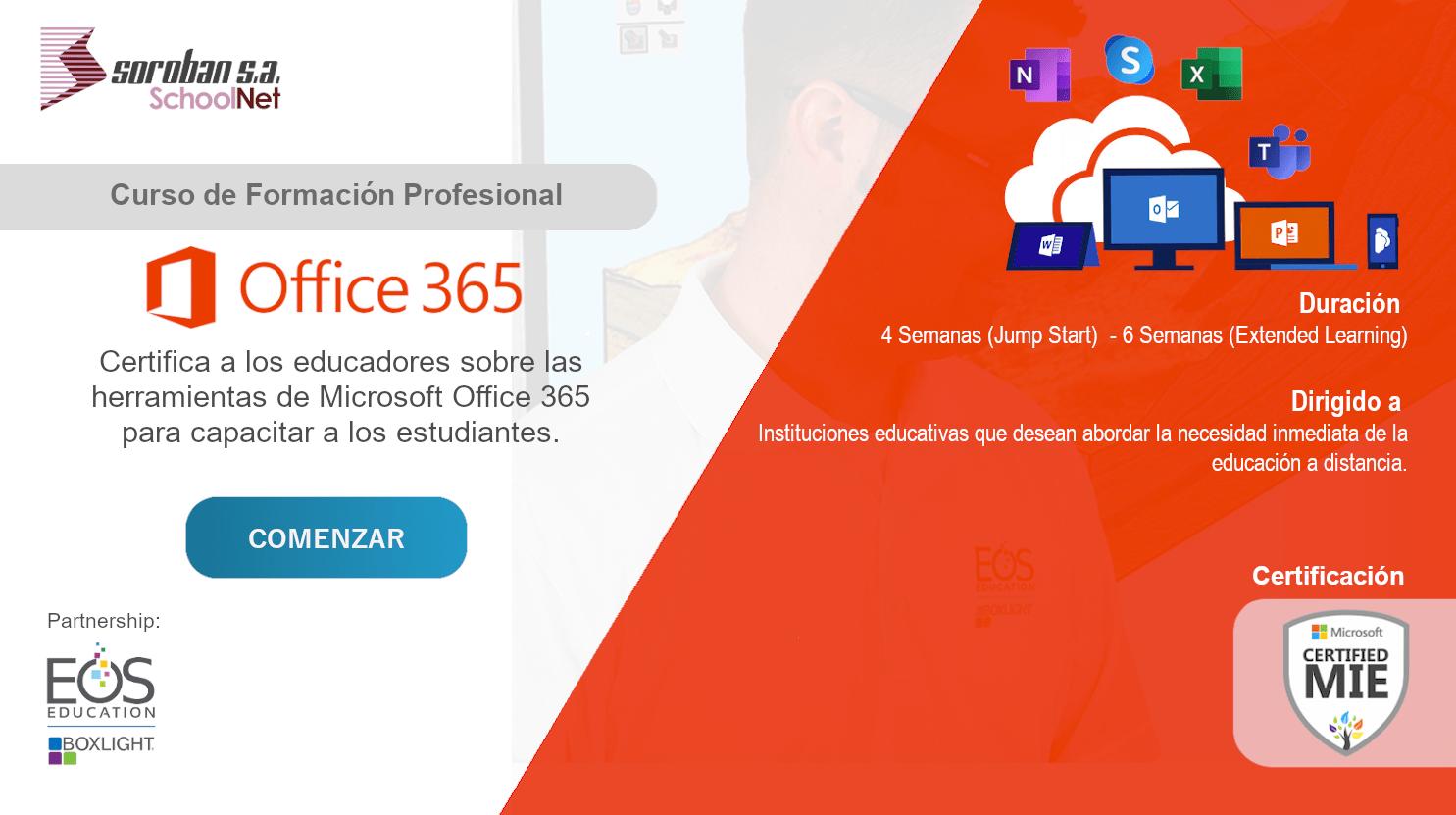 Microsoft Office 365: Curso de Certificación y Formación Profesional