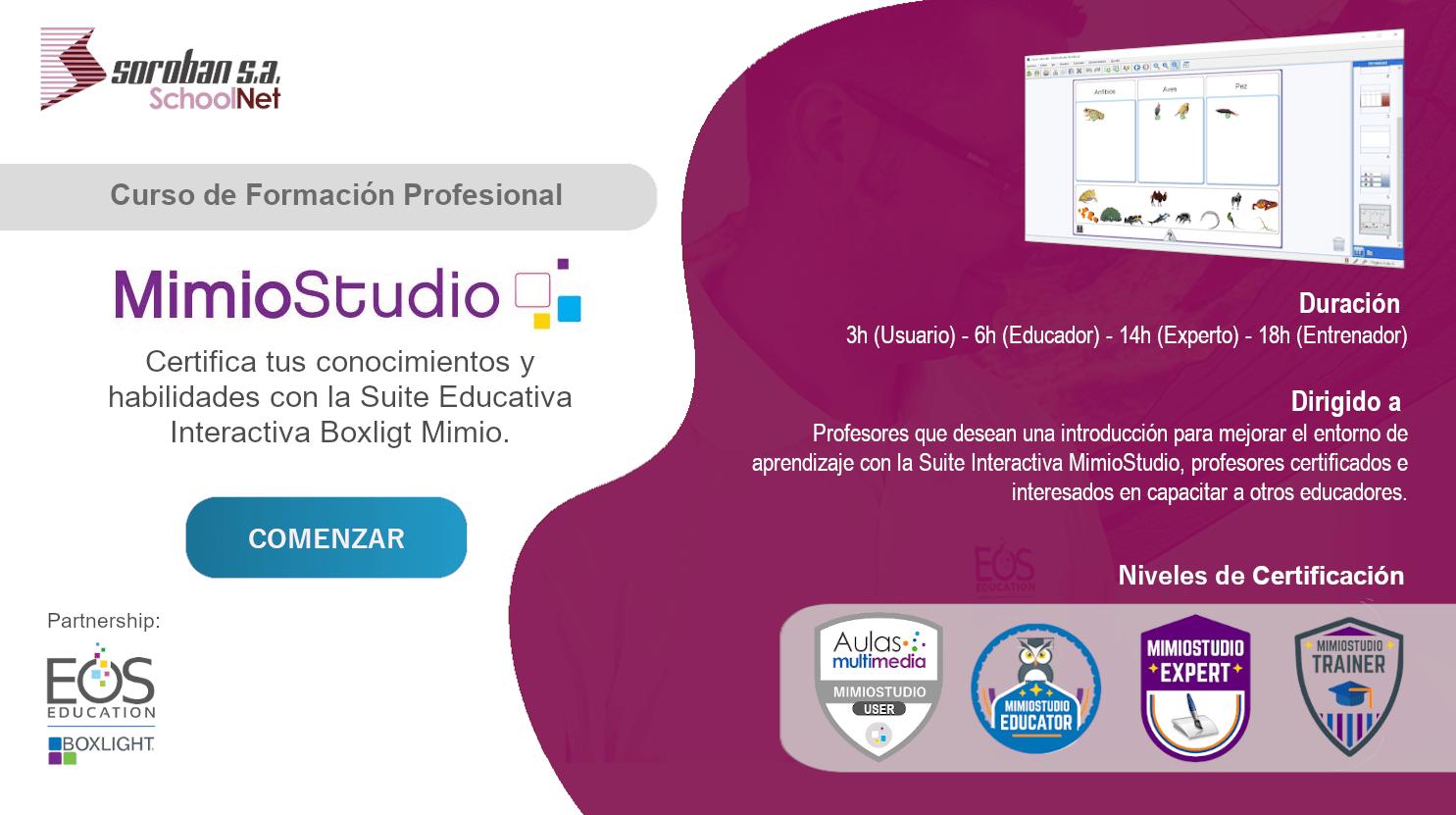 MimioStudio: Curso de Certificación y Formación Profesional