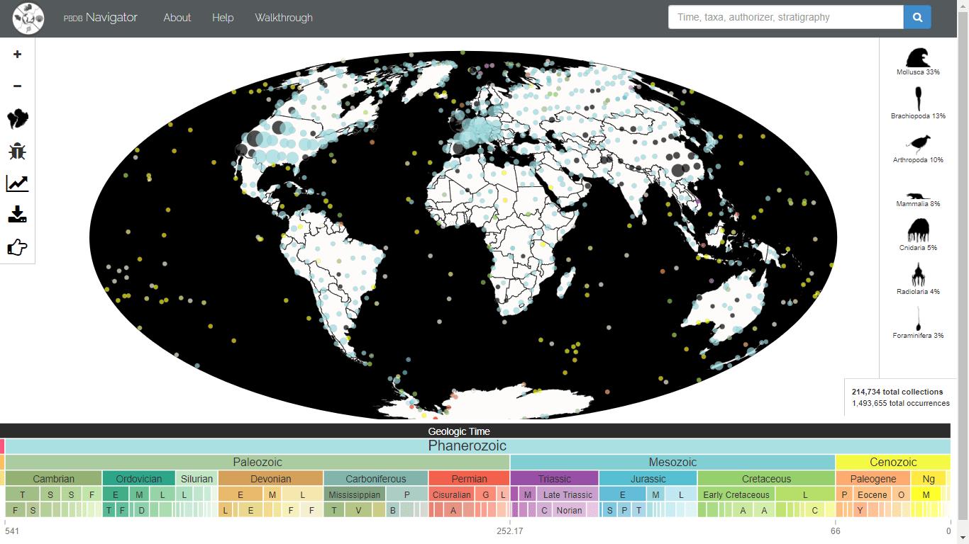 Mapa Geológico Interactivo de Fósiles de Dinosaurios
