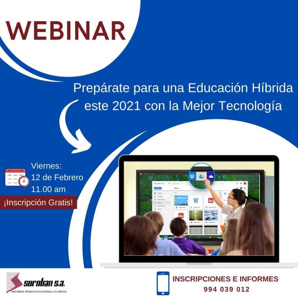 Webinar: Prepárate para una educación híbrida 2021 con la mejor Tecnología