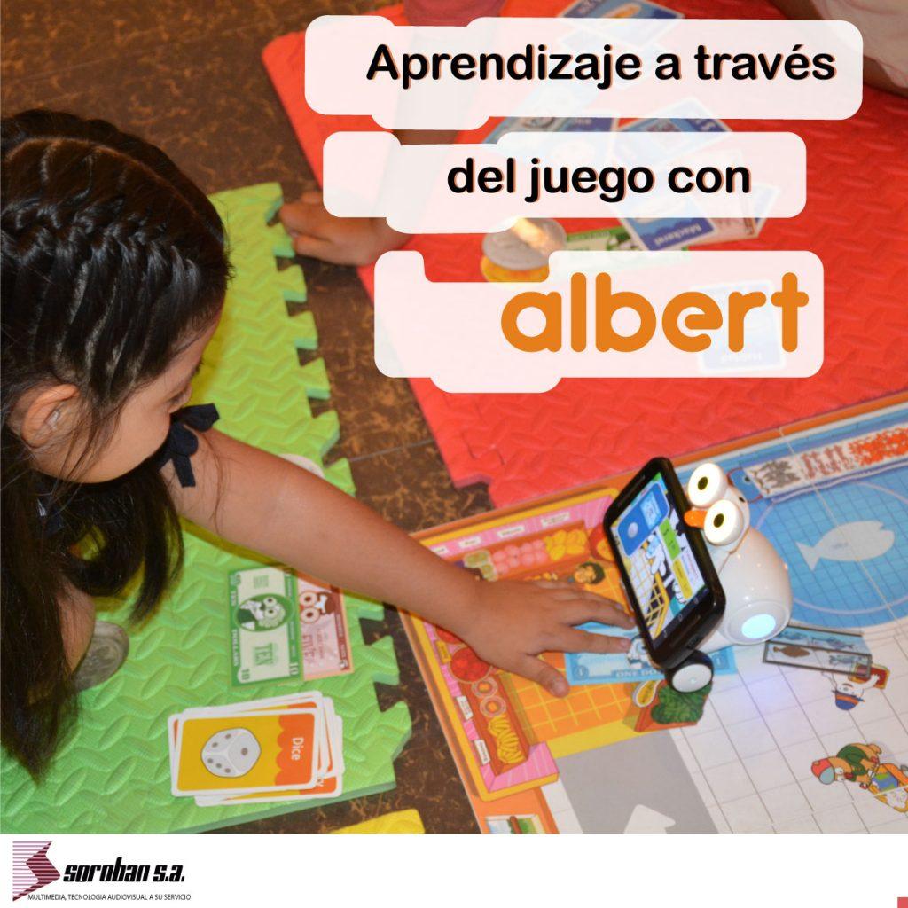 Aprendizaje a través del juego con Albert Smart Robot