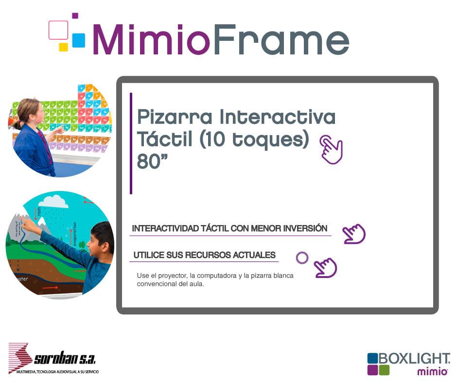 Pizarra Interactiva Táctil MimioFrame
