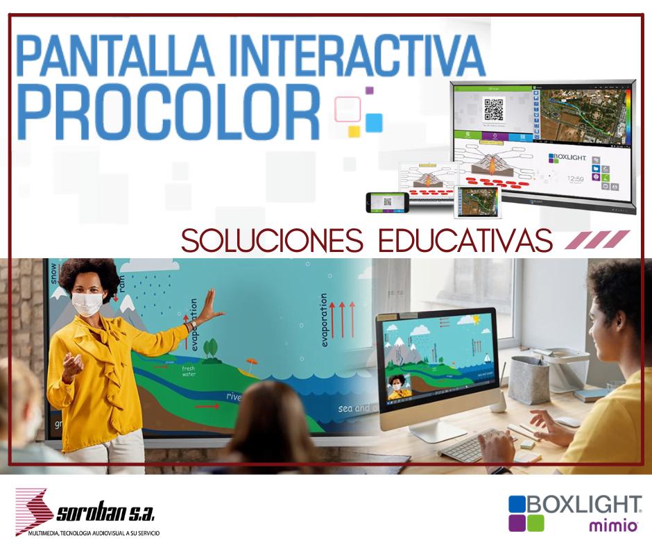 Descubre el futuro de la educación con las Pantallas interactivas Procolor