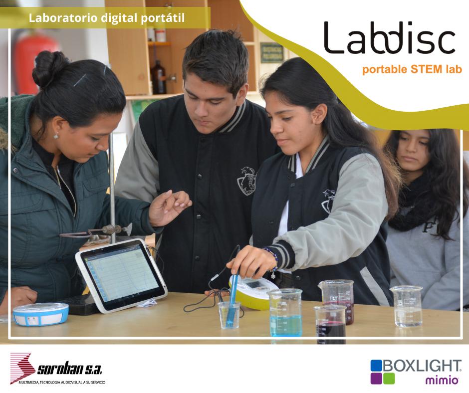 Lleva el aula de ciencias a cualquier lugar con Labdisc