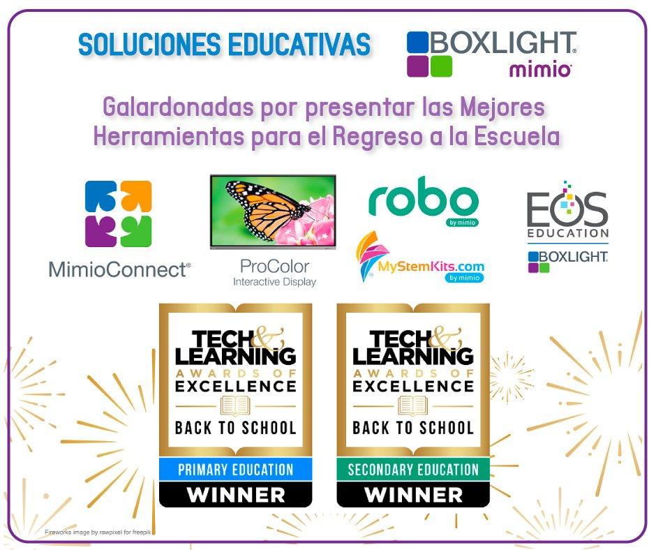 Soluciones educativas de Boxlight son galardonadas